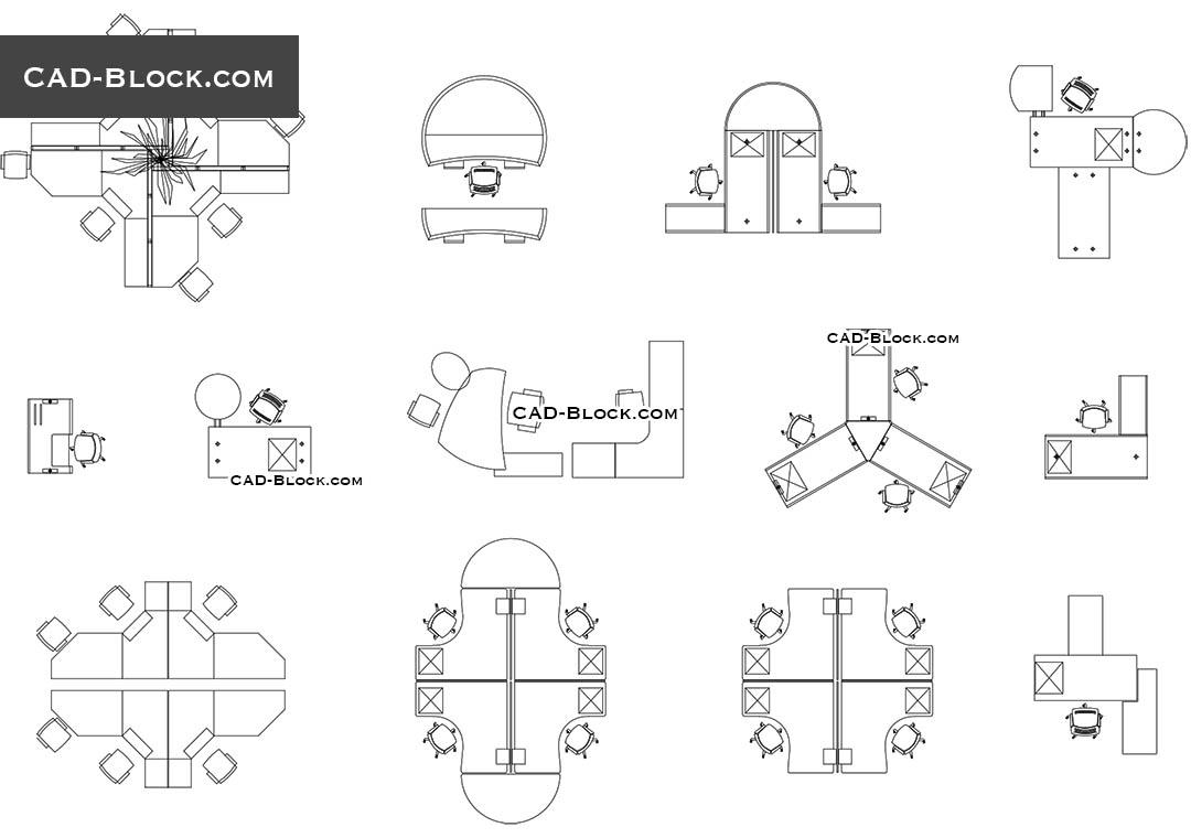 Office plan CAD blocks