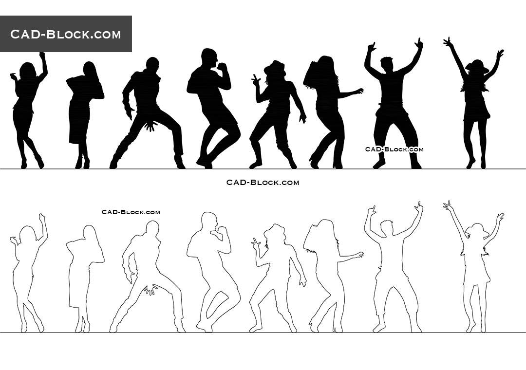 People Dancing CAD blocks, AutoCAD file free download