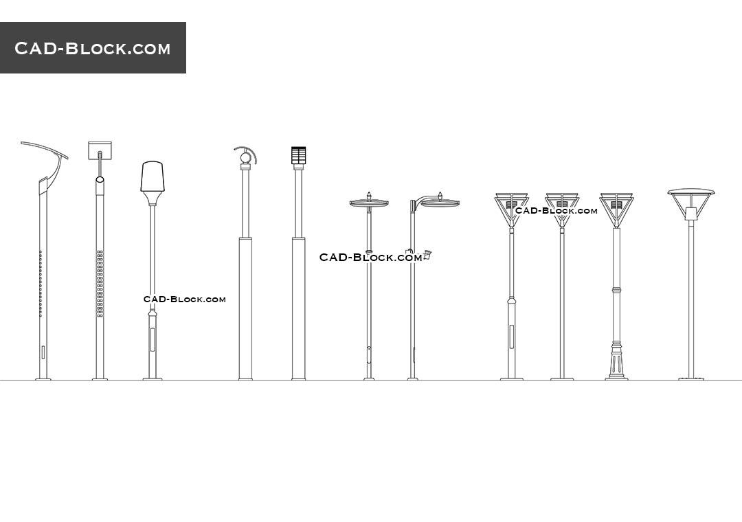hight resolution of street lighting download free cad block