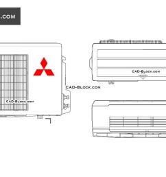mitsubishi air conditioning cad blocks autocad file [ 1080 x 760 Pixel ]