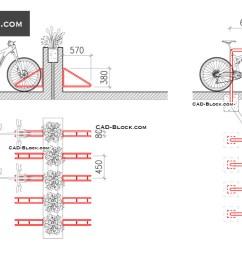 bike rack download free cad block [ 1080 x 760 Pixel ]