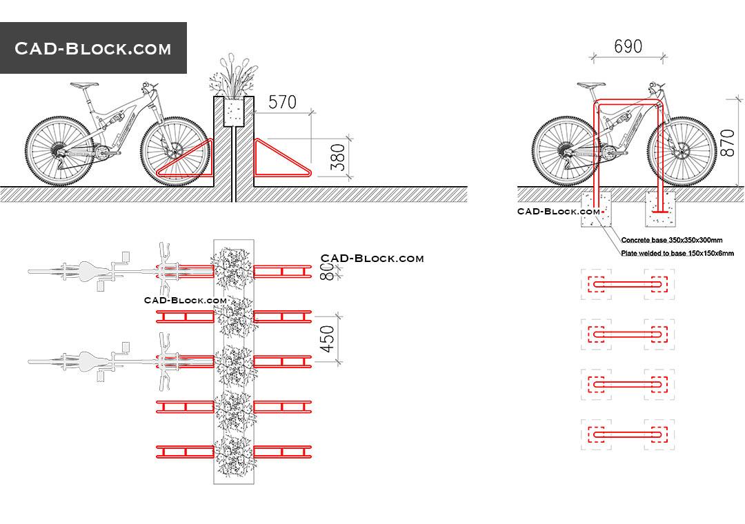 hight resolution of bike rack download free cad block