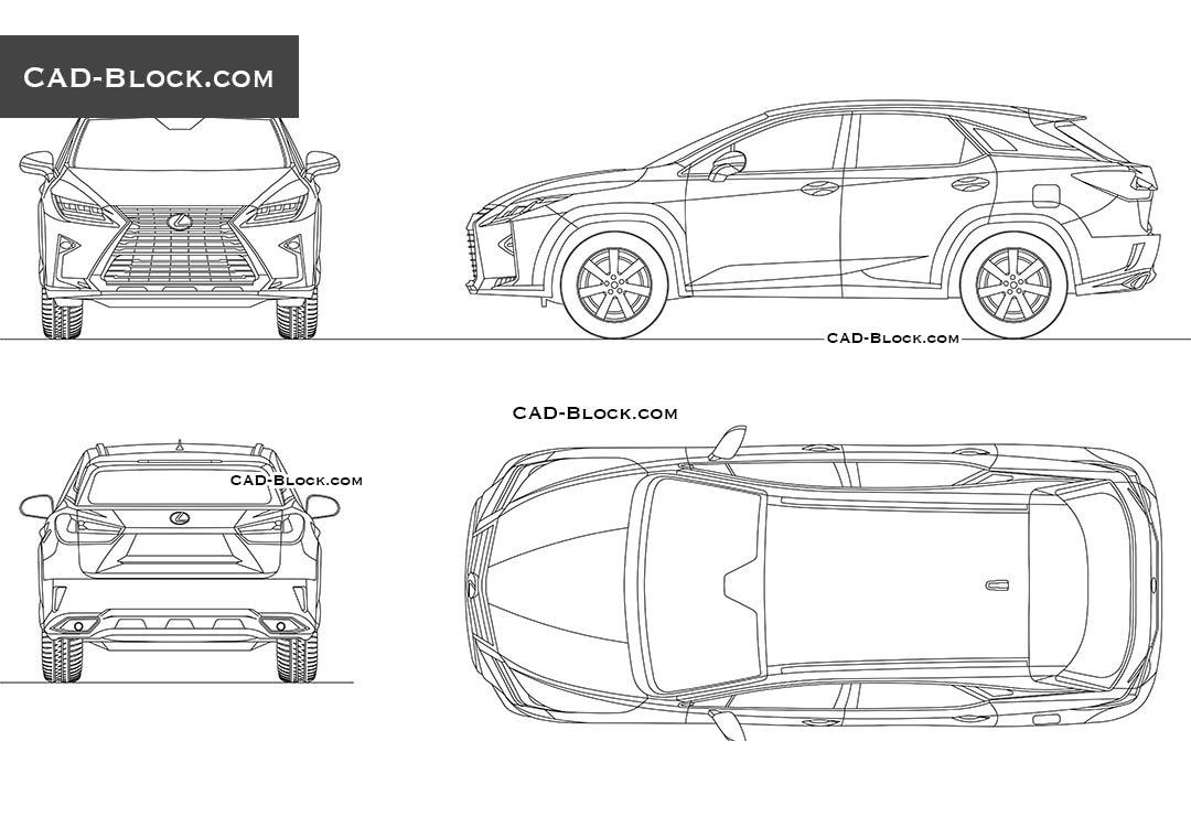 Lexus RX 350 (2016) Car CAD drawing download, AutoCAD file