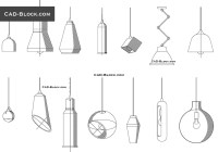 Pendant Light free AutoCAD blocks download, CAD file