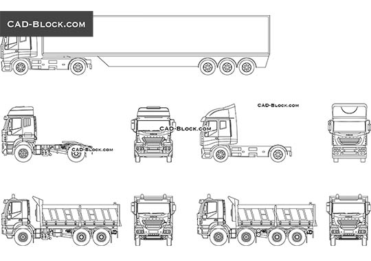 Trucks CAD Blocks free download