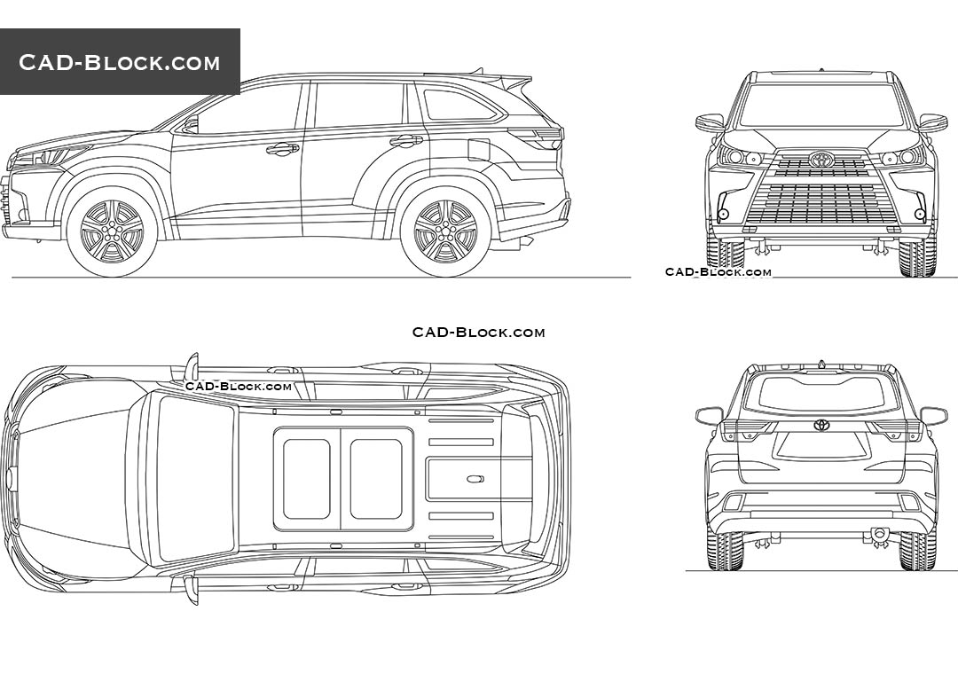 Toyota Highlander Drawing