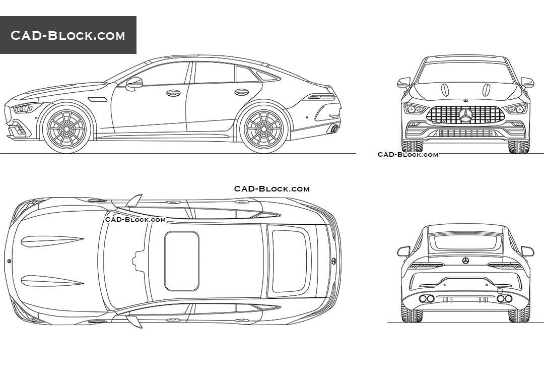 Mercedes-AMG GT 53 CAD block