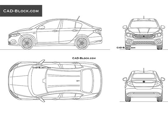 Jaguar F-Pace AutoCAD drawings, free CAD blocks download