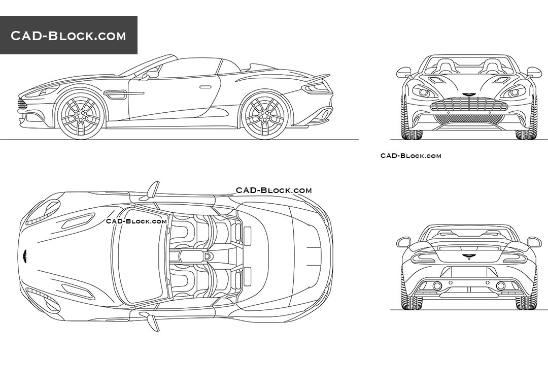 Aston Martin Vanquish CAD model download