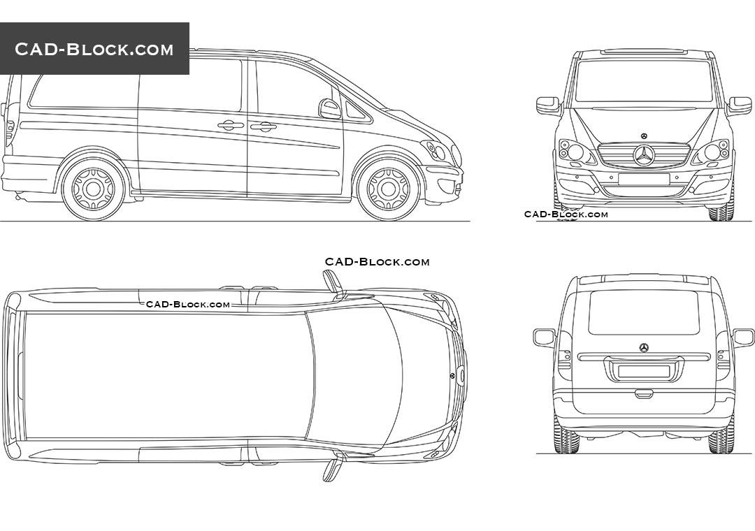 Mercedes-Benz Viano AutoCAD Block
