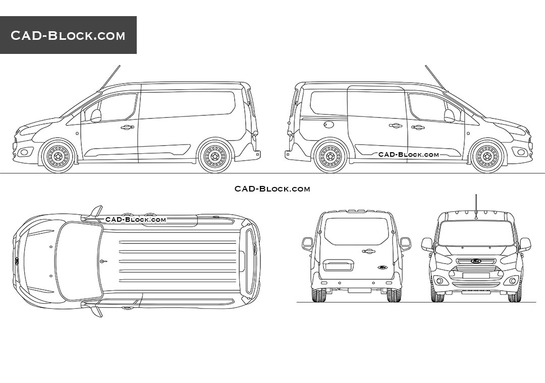 Ford Transit Connect AutoCAD Block