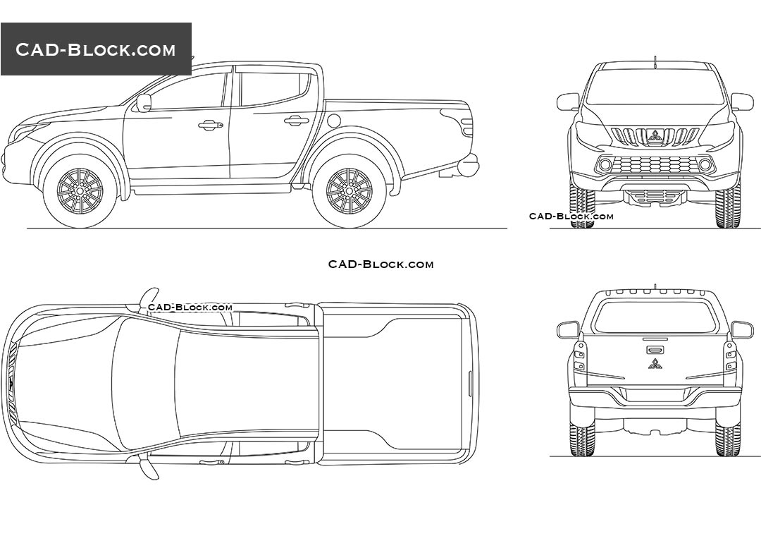 Mitsubishi Triton Double Cab AutoCAD drawings