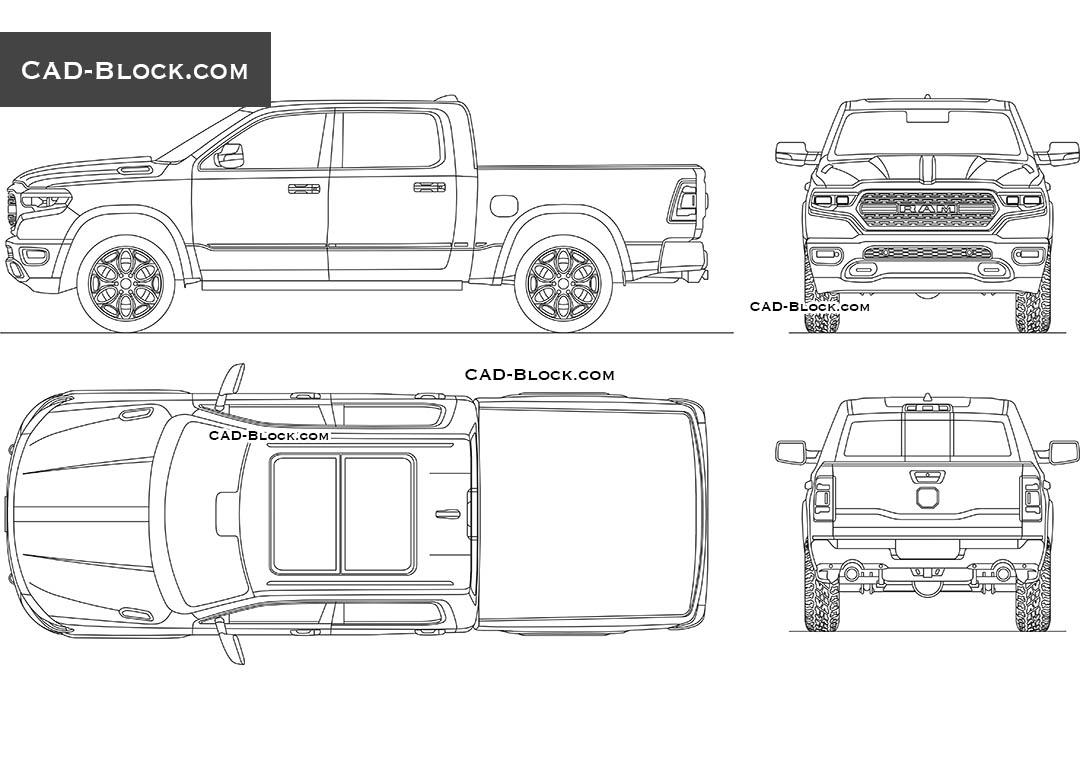 Dodge RAM 1500 car CAD Block