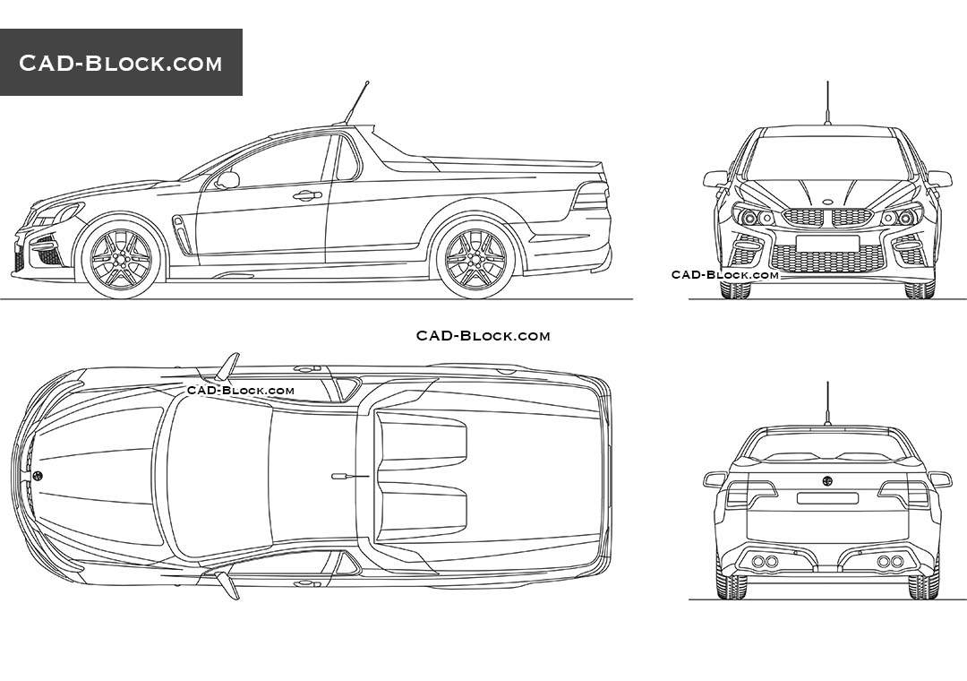 Holden HSV GTS car CAD drawings in AutoCAD