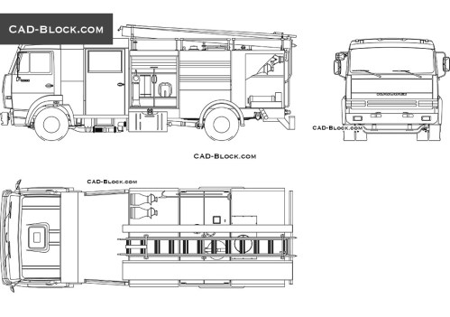 small resolution of fire truck cad block 2d model in autocad vector file