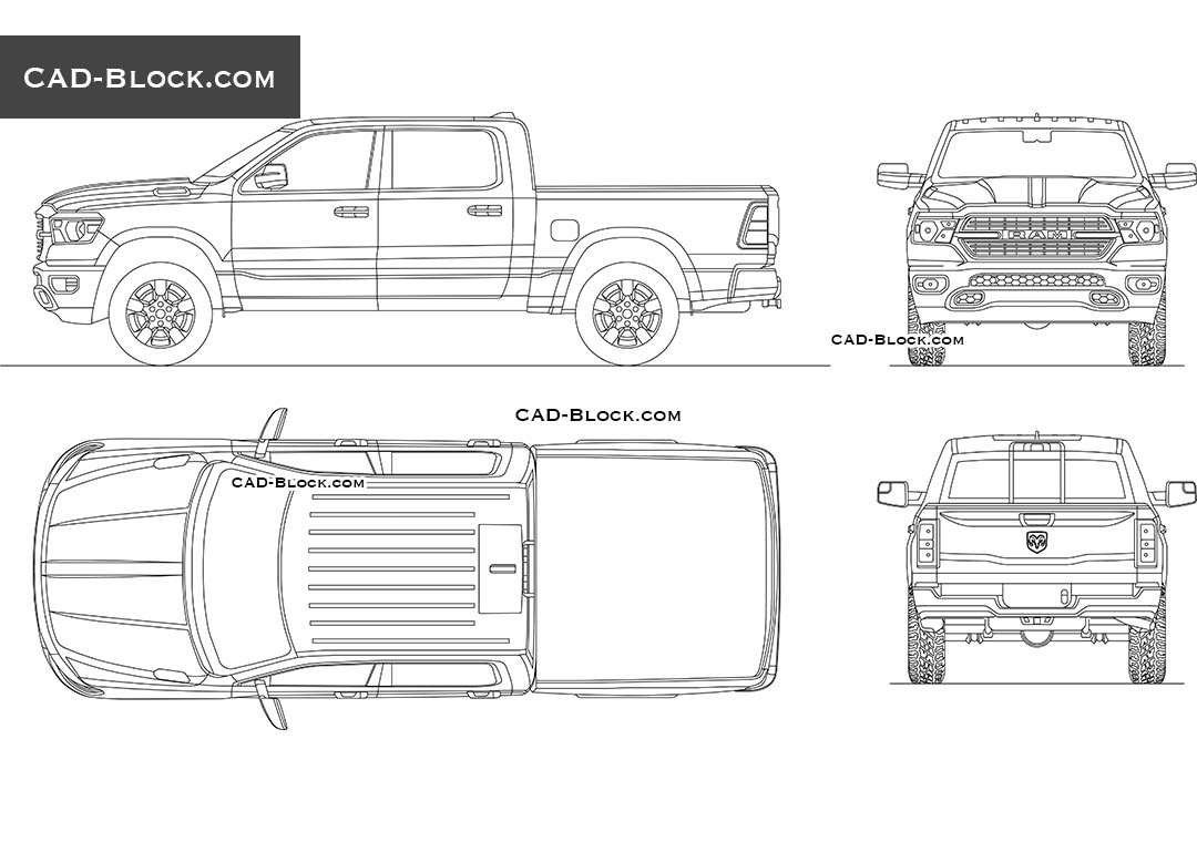 Dodge Ram 1500 Big Horn CAD block