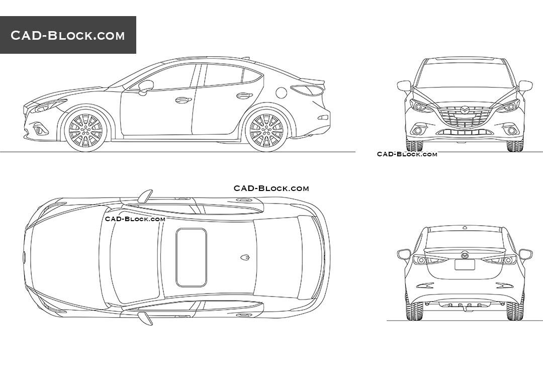 Mazda 3 AutoCAD drawing