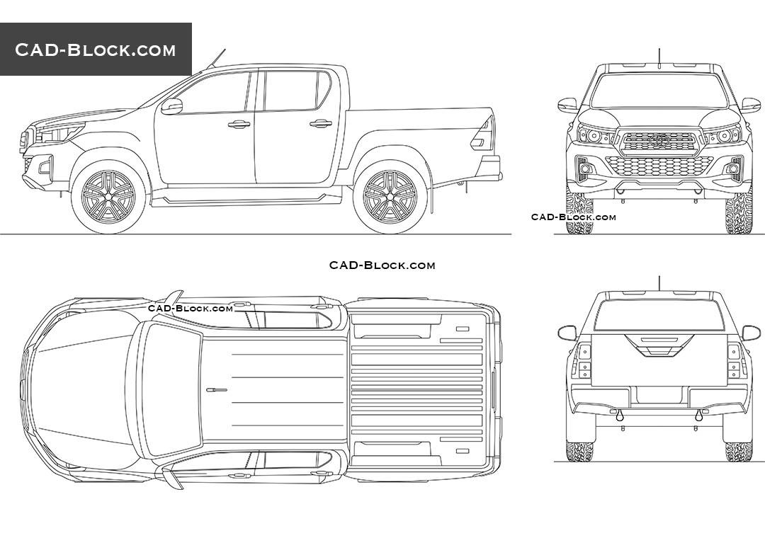 Toyota Hilux Revo 2D CAD model