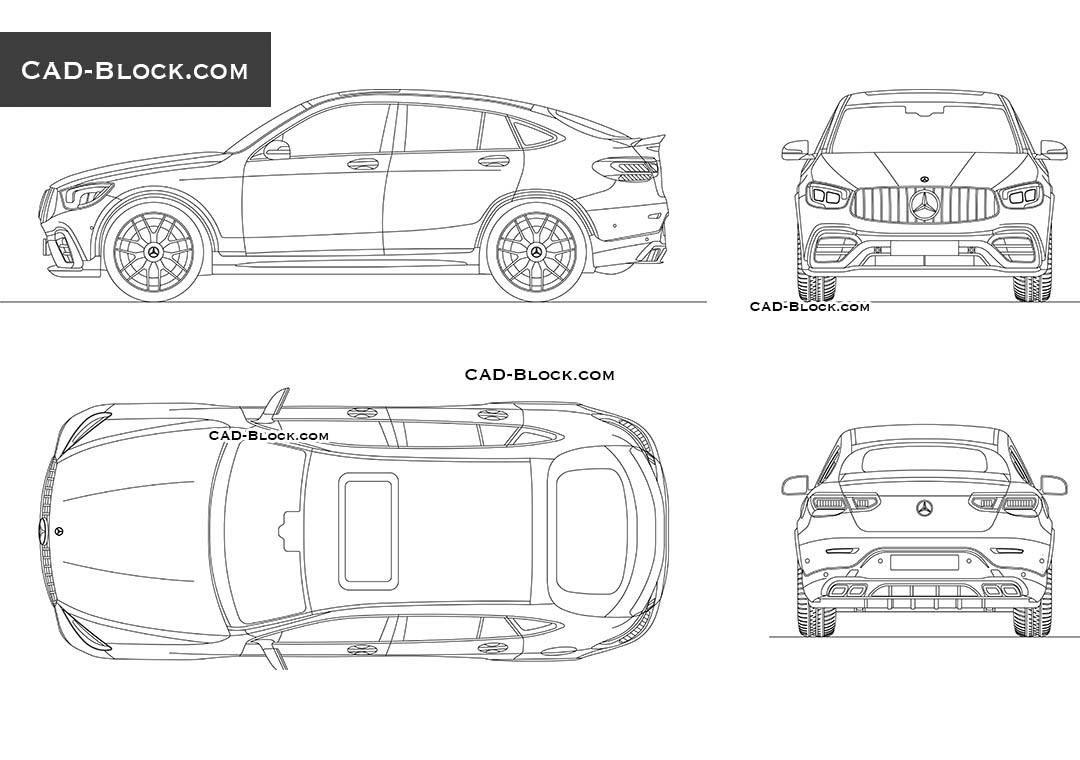 Mercedes-Benz GLC 63 AMG Coupe CAD blocks