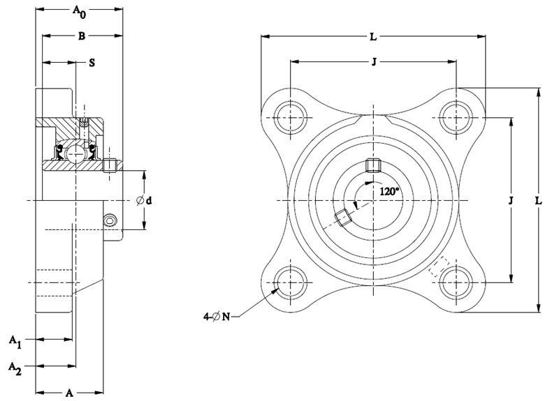 Timken Part Number SUCPLF204/FVSL613, Corrosion Resistant