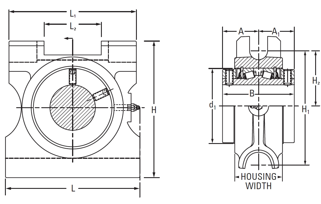 Type E Take Up: Top Angle Bearing (E-TTU) On The Timken