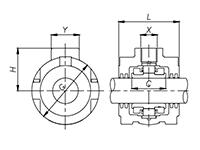 Split Cylindrical Roller Bearing Light Series Hanger Unit