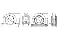 Split Cylindrical Roller Bearing Light Series SNQ/SDQ