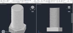 ¿Cómo Dibujar un Tornillo 3D en AutoCAD?