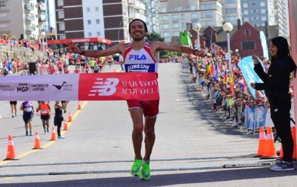 Sanguinetti y Neipán son campeones de maratón