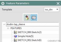Siemens NX Feature Dimensioning in Drafting