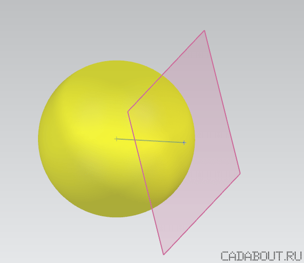 Siemens NX a Contact Point between a Sphere and a Plane