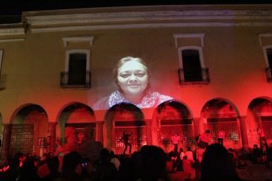 """Guadalupe Hernández en """"Olímpica"""" De Héctor Azar. Dir. Rabindranath Espinosa y Marcela Bourges. En Puebla dentro del Festival Internacional de Teatro Héctor Azar 2012."""