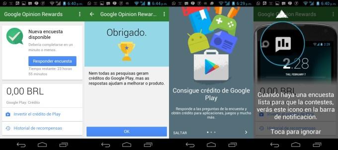 google rewards cada centavo conta tela