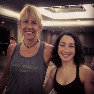 Leslee Bender with her Barre None method - my fave instructor of the conference!