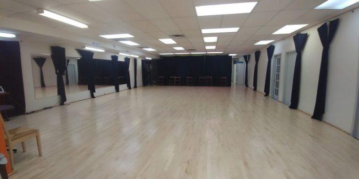Universal Dance Studio's ballroom A for Cadance's jazz classes