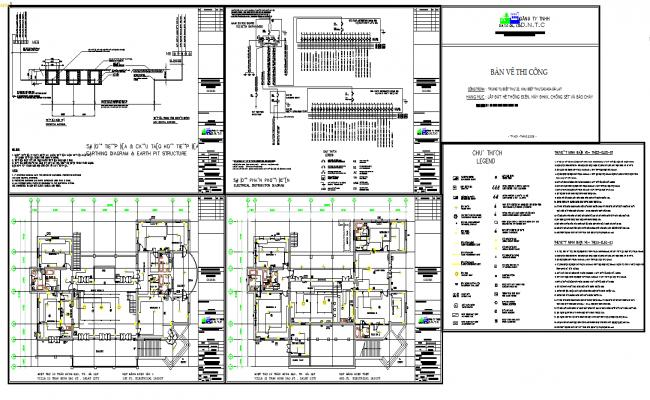 Electrical villas layout plan
