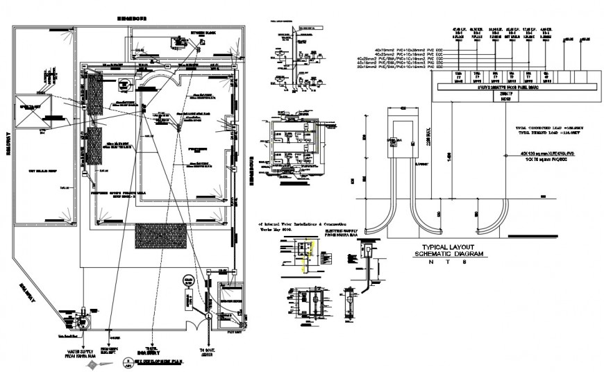 Conductor ground plane with upper floor cad structure