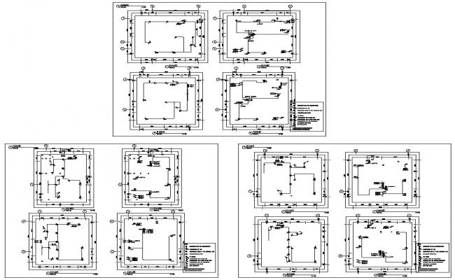 Domestic hot water generator section cad drawing details