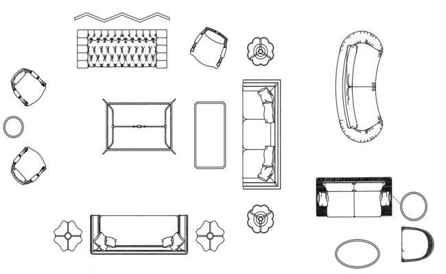 Dynamic Multiple Drawing Room Furniture Blocks Dwg File Free Photos