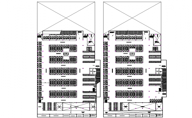 Calculation of auditorium plan and section detail dwg file