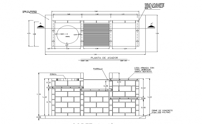 Beam, slab, column, plan layout and arrangement detail