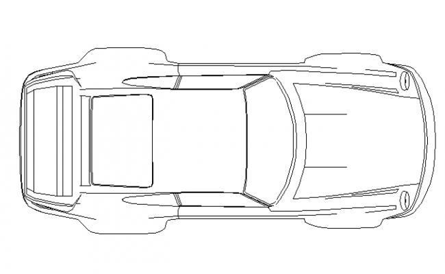 Car plan view cad block details dwg file
