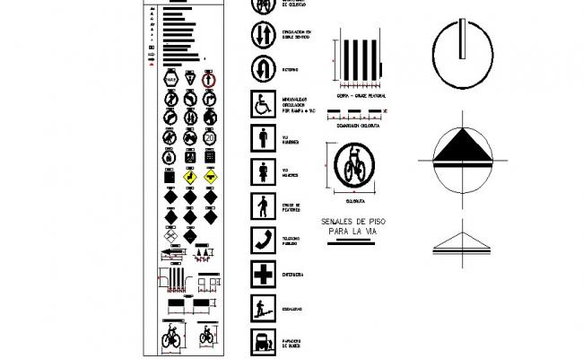 Common direction blocks and symbols cad drawing details