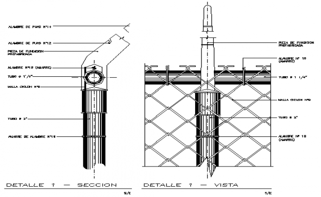 Cyclone mesh electrical details dwg file
