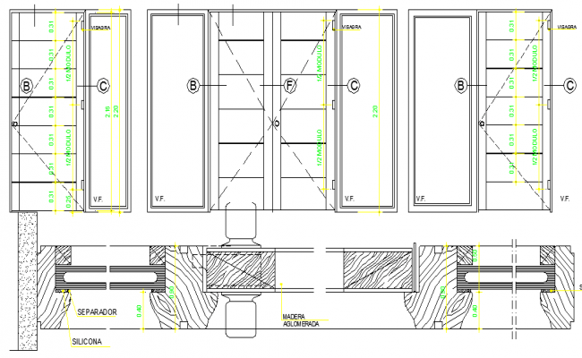 Door Dwg Elevation & Doors Elevation