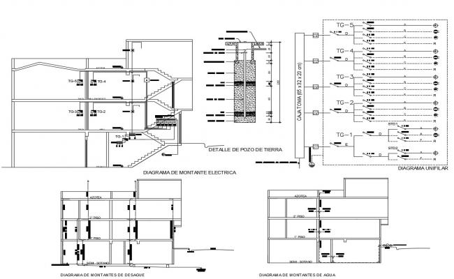Huge Bungalow Floor Plan With Electrical And Plumbing
