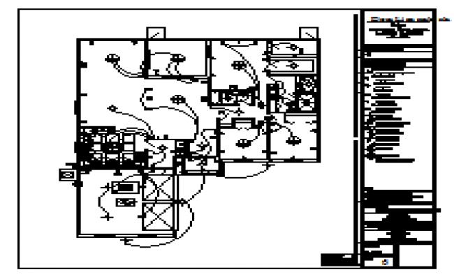 Restaurant floor plan with sanitary installation cad