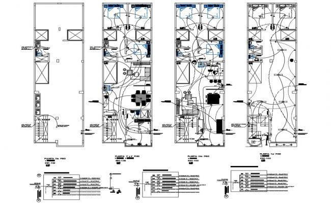 Architecture Layout of Shopping Mall Electric Installation