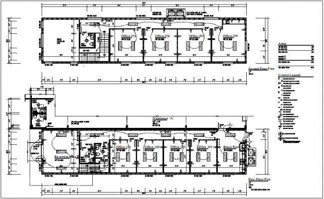 First and second floor electrical plan of corporate office