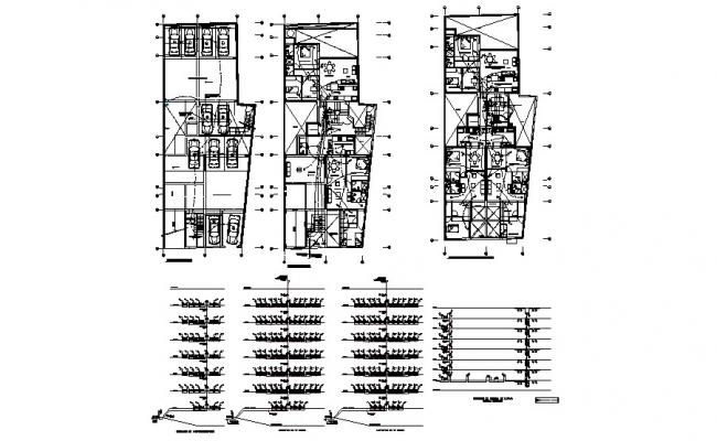 Floor plan and electrical layout plan details of apartment